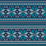 Winter Holiday Seamless Knitted Pattern. Fair Isle Sweater Desig Royalty Free Stock Photography