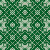 Winter Holiday Seamless Knitted Pattern. Nordic Sweater Design Stock Photo