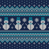 Winter Holiday Seamless Knitted Pattern. Nordic Sweater Design Stock Photography