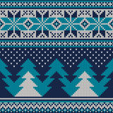 Winter Holiday Seamless Knitted Pattern. Nordic Sweater Design Royalty Free Stock Image