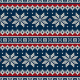 Winter Holiday Seamless Knitted Pattern Royalty Free Stock Photography