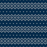 Winter Holiday Seamless Knitted Pattern Stock Images