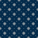 Winter Holiday Seamless Knitted Pattern with Snowflakes Royalty Free Stock Photography