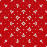 Winter Holiday Seamless Knitted Pattern with Snowflakes Royalty Free Stock Image