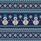 Winter Holiday Seamless Knitted Pattern Royalty Free Stock Images