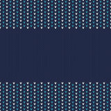 Winter Holiday Seamless Knitted Pattern Stock Photography