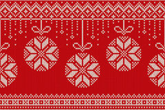 Winter Holiday Seamless Knitting Pattern. Christmas and New Year Background Royalty Free Stock Images