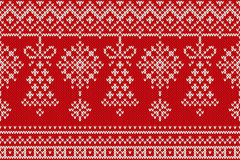 Winter Holiday Seamless Knitting Pattern. Christmas and New Year Backround Royalty Free Stock Photos