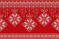 Winter Holiday Seamless Knitting Pattern. Christmas and New Year Stock Photos