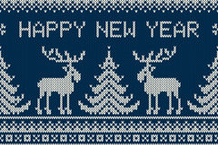 Winter Holiday Seamless Knitting Pattern with a Christmas Tree,Winter Holiday Seamless Knitting Pattern with a Christmas Tree, Elk Stock Images