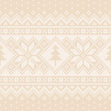 Winter Holiday Seamless Knitting Pattern with a Christmas Trees. Fair Isle Knitting Christmas and New Year Background Stock Photography