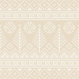 Winter Holiday Seamless Knitting Pattern with a Christmas Trees. Fair Isle Knitting Christmas and New Year Background Royalty Free Stock Images