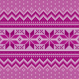 Winter Holiday Seamless Knitting Pattern. Fair Isle Knitted Sweater Design. Christmas Background Stock Photos