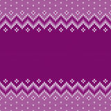 Winter Holiday Seamless Knitting Pattern. Fair Isle Knitted Sweater Design. Christmas Background Royalty Free Stock Images