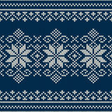 Winter Holiday Seamless Knitting Pattern Royalty Free Stock Images