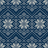 Winter Holiday Seamless Knitting Pattern Royalty Free Stock Photos