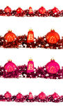 Winter holiday set with big and small  red, orange and magenta b Royalty Free Stock Photos