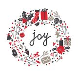 Winter holiday set in vector. stock image