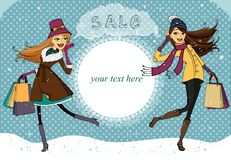 Winter holiday shopping promo Royalty Free Stock Photography