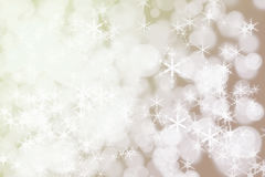 Winter Holiday Snow Background. Christmas Abstract Defocused Backdrop With Snowflakes Stock Image