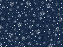 Winter Holiday Snowflakes Stock Photos