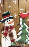 A Winter Holiday Snowman Royalty Free Stock Photography