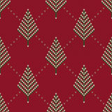 Winter Holiday Sweater Design. Seamless Knitted Pattern Stock Photography