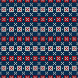 Winter Holiday Sweater Design. Seamless Knitted Pattern Royalty Free Stock Photography