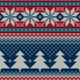 Winter Holiday Sweater Design. Seamless Knitted Pattern Stock Photo