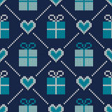 Winter Holiday Sweater Design. Seamless Knitted Pattern Royalty Free Stock Image