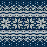 Winter Holiday Sweater Design. Seamless Knitted Pattern Stock Photos