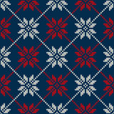 Winter Holiday Sweater Design. Seamless Knitted Pattern Royalty Free Stock Photos