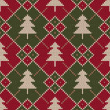 Winter Holiday Sweater Design. Seamless Knitted Pattern Royalty Free Stock Photo