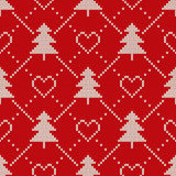Winter Holiday Sweater Design. Seamless Knitting Patter Stock Photography