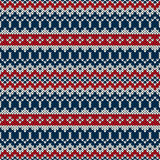 Winter Holiday sweater design in traditional Fair Isle style. Seamless knitting pattern ornament for winter holiday fabric design. EPS available Stock Images