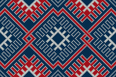 Winter Holiday sweater design on the wool knitted texture. Seaml Stock Photography