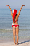 Winter holiday vacation. At christmas in the sun Stock Photos