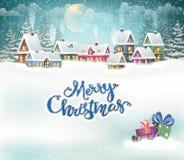 Winter holiday village Royalty Free Stock Photo