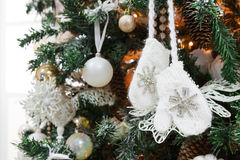 Modern christmas tree decoration background Royalty Free Stock Image