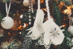 Modern christmas tree decoration background Stock Photography