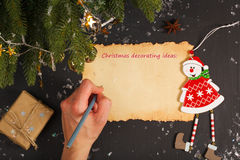 Winter holidays background Stock Photos