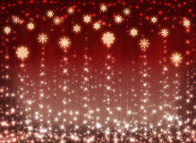 Winter holidays background. With stars and snowflakes Stock Photo