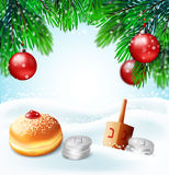 Winter holidays backgrounds. Stock Image