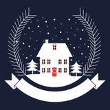 Winter holidays banner design Stock Image