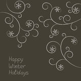 Winter holidays card with snowflakes Royalty Free Stock Photo