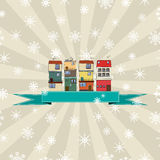 Winter holidays card Royalty Free Stock Images