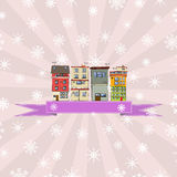 Winter holidays card Royalty Free Stock Photos