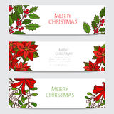 Winter holidays cards set. Hand drawn decorative winter holidays cards set, design elements. Can be used for invitations, gift wrap, print, scrapbooking stock illustration