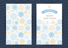 Winter Holidays cards with snowflakes. Pastel Winter Holidays cards with snowflakes. Place for your text. Template frame design for banner, placard, invitation vector illustration