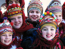 Winter holidays in Carpathians_2 Stock Images